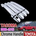 עבור טויוטה טקומה 2005-2015 כיסוי ידית כרום Trim סט 2006 2007 2009 2010 2011 2012 2014 אביזרי רכב מדבקת רכב סטיילינג