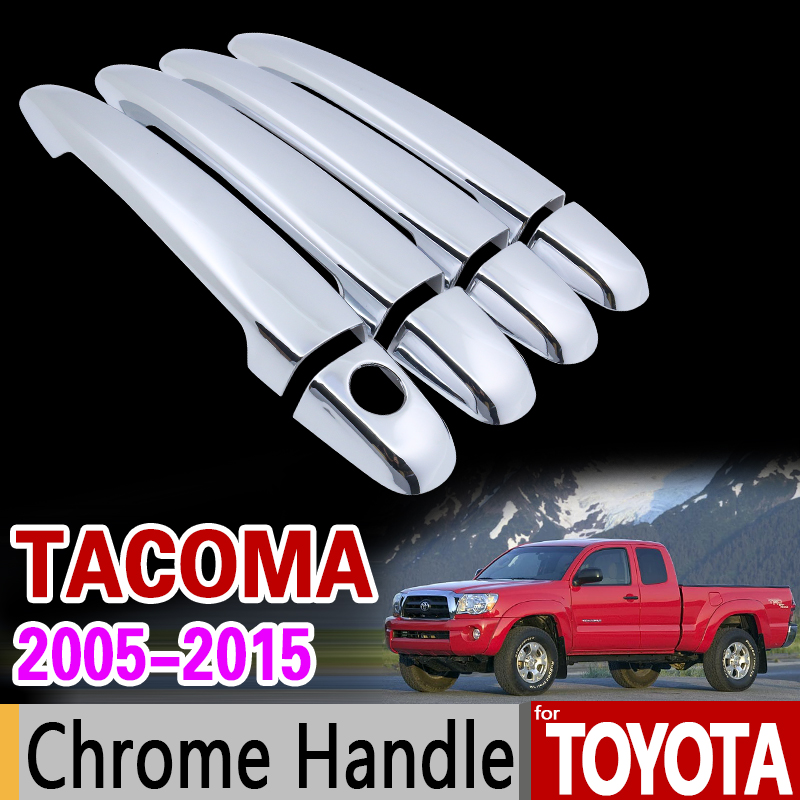 For Toyota Tacoma 2005-2015 Chrome Handle Cover Trim Set 2006 2007 2009 2010 2011 2012 2014 Car Accessories Sticker Car Styling