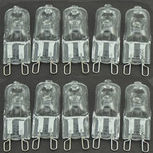 Universal-10 pcs/lot G9 ampoules halogènes clair 240 V 25 W 35 W 40 W 50 W 60 W Watts Dimmable ~ 110 V ~ 220 V(China)