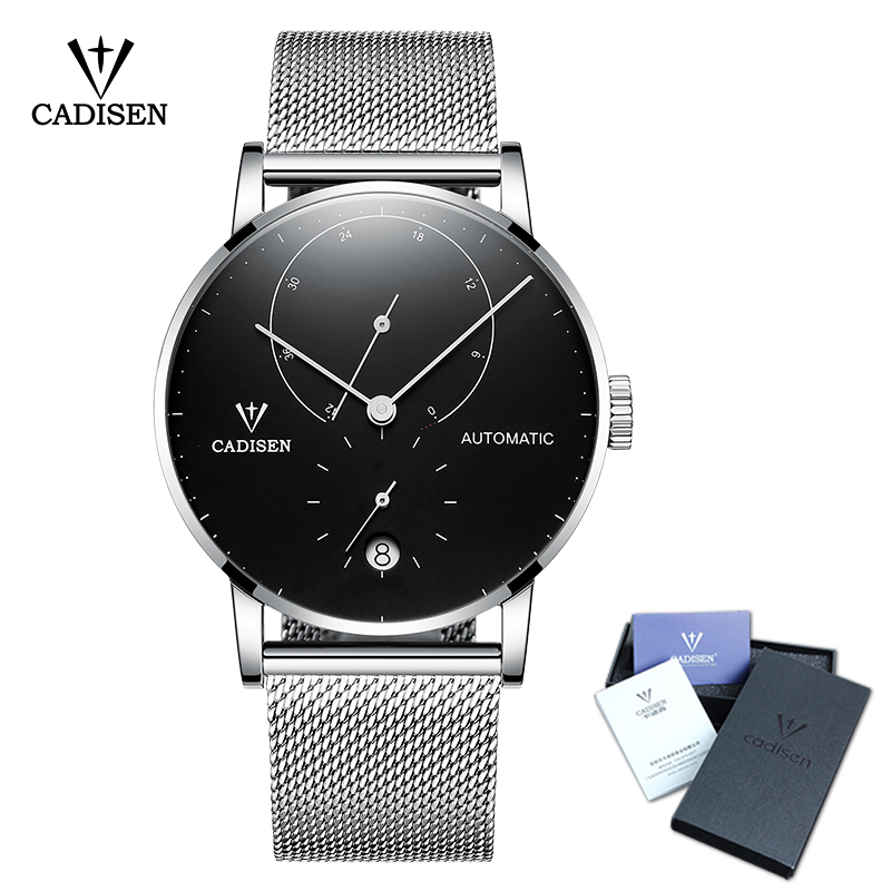 CADISEN Top Mens Watches Top Brand Luxury Automatic Mechanical Watch Men Full Steel Business Waterproof Fashion Sport Watches mce top brand mens watches automatic men watch luxury stainless steel wristwatches male clock montre with box 335