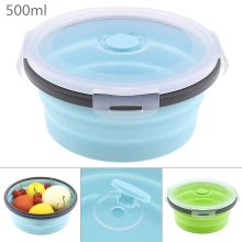 500ML Healthy Material Lunch Box Portable Bento Boxes Microwave Dinnerware Food Storage Container Lunchbox