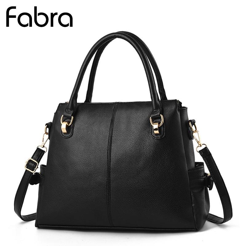 цены на Fabra Fashion PU Leather Women Messenger Bags Handbags Female Handbag Designer Casual Tote Luxury Solid Lady Crossbody Bags в интернет-магазинах