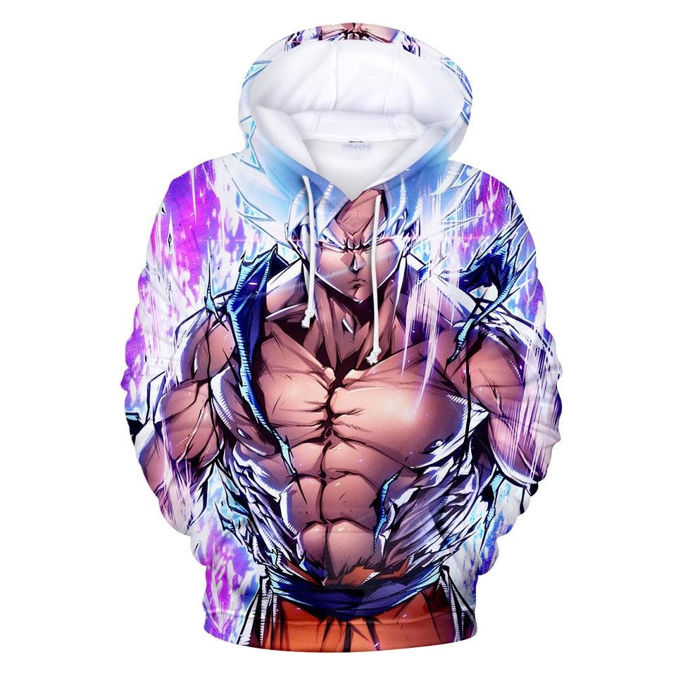 Anime Dragon Ball Z Pocket Men Hoodies Dragon Ball Sweatshirts 3D Tracksuit Black Pullover Harajuku 7XL Streatwear DropShip