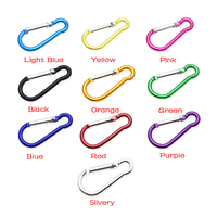 1000pcs Aluminum Carabiner Snap Hook Keychain For Paracord Outdoor Activities Hiking Camping 10 Colors