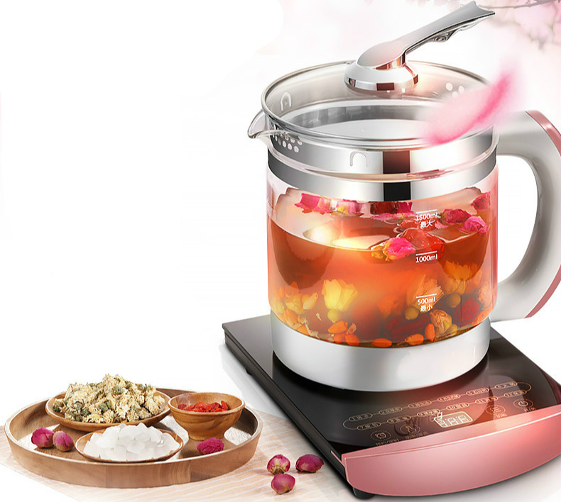 лучшая цена Electric kettle glass raising full automatic heat preservation pot Safety Auto-Off Function