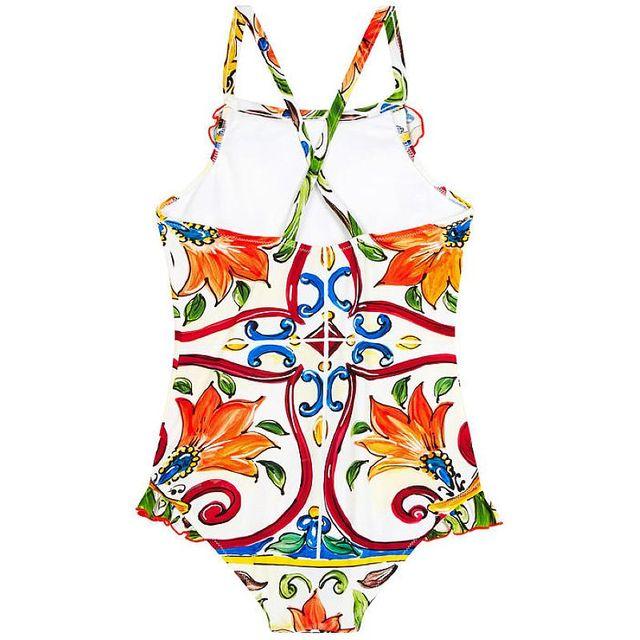 Baby Swimsuit Girls Clothes Floral Kids Swimwear Baby One Piece 2018 Brand Toddler Summer Swimwear Children Clothing 80-140cm