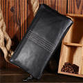 Genuine Leather Clutch Wallet Cow Leather Men Clutch Wallets Zipper Handbag Male Purse Long Wallet Man's Clutch