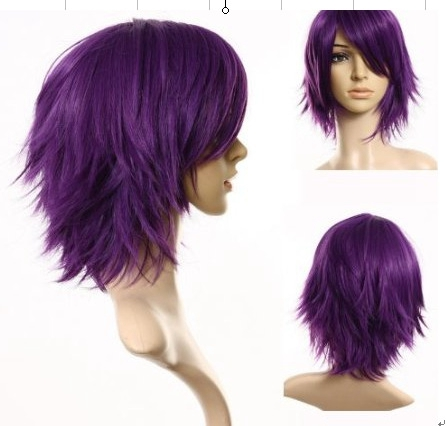 Kuroko No Basketball Murasakibara Atsushi for Man Anime Universal Cosplay Wig High Quality Heat Resistant Synthetic Hair Purple in Anime Costumes from Novelty Special Use