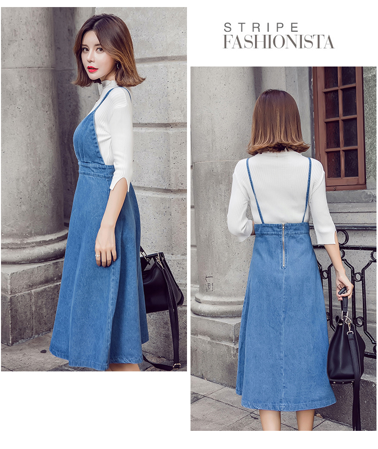 HTB1YUDSfcrI8KJjy0Fhq6zfnpXaf - HziriP 2018 New Arrival Women Denim Dress Fashion Casual Ankle-Length desses for Ladies Spaghetti Strap Bodycon Vestido Female