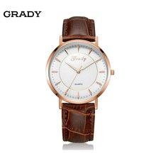 Бесплатная доставка ультра тонкий кварцевые часы кожа часы костюм для мужчин 3atm водонепроницаемый наручные часы