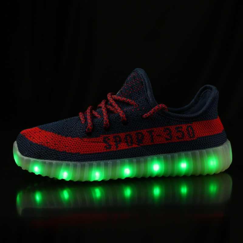 Детская обувь кроссовки детские спортивные дышащий осень лето светодиодный  свет для мальчиков и девочек YEZ 350 22f8f46cda1
