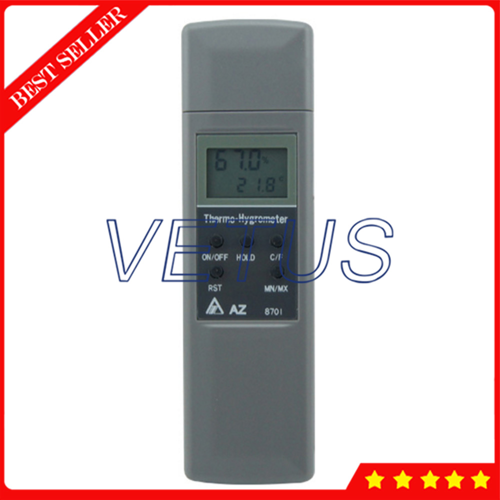 AZ8701 Pocket Type Digital Hyrometer Thermometer Psychrometer and Humidity meter with temperature range -10 to 50C thermostat car thermometer digital thermometer humidity u0026 temperature meter gm1361 can be accessed by k type thermocouple
