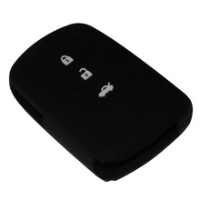 3 Buttons Black Silicone Key Cover Case Fit For Toyota Camry 7 Highlander Smart Car Key Shell