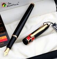 推進ピカソpimio 923高級純粋な黒とゴールドクリップ万年筆0.5ミリメートルイリジウムニブ金属インクペン無料無料