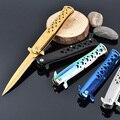 Nuevo Producto! plegable de acero Inoxidable cuchillo de caza que acampa cuchillo táctico del cuchillo de bolsillo cuchillos de la supervivencia al aire libre herramienta herramientas de rescate