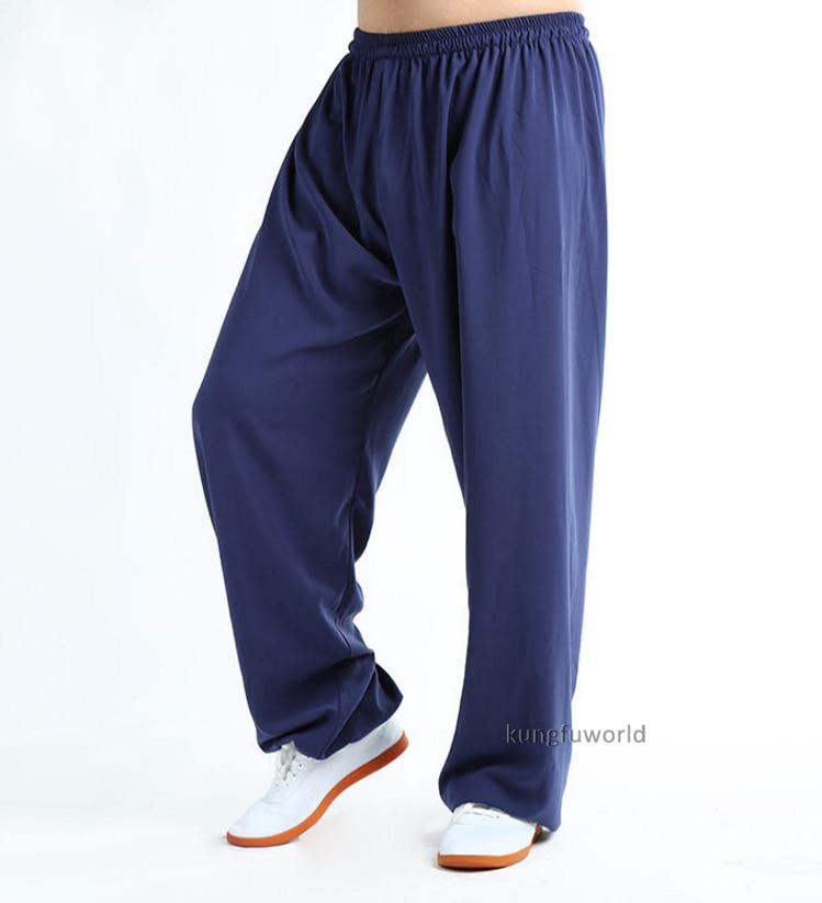 Baumwolle & Seide Tai chi Kung fu Hosen kampfkunst Wing Chun Hose Wushu Kleidung