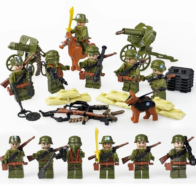 Military Legoing Figures Arms Swat Delta Force Militarys Tank Anti aircraft  missiles Legoing jeep World War II Blocks artillery-in Blocks from Toys ... 8023ef00952ea