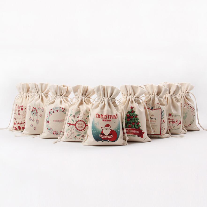 Christmas gift bags new pc large canvas santa sack