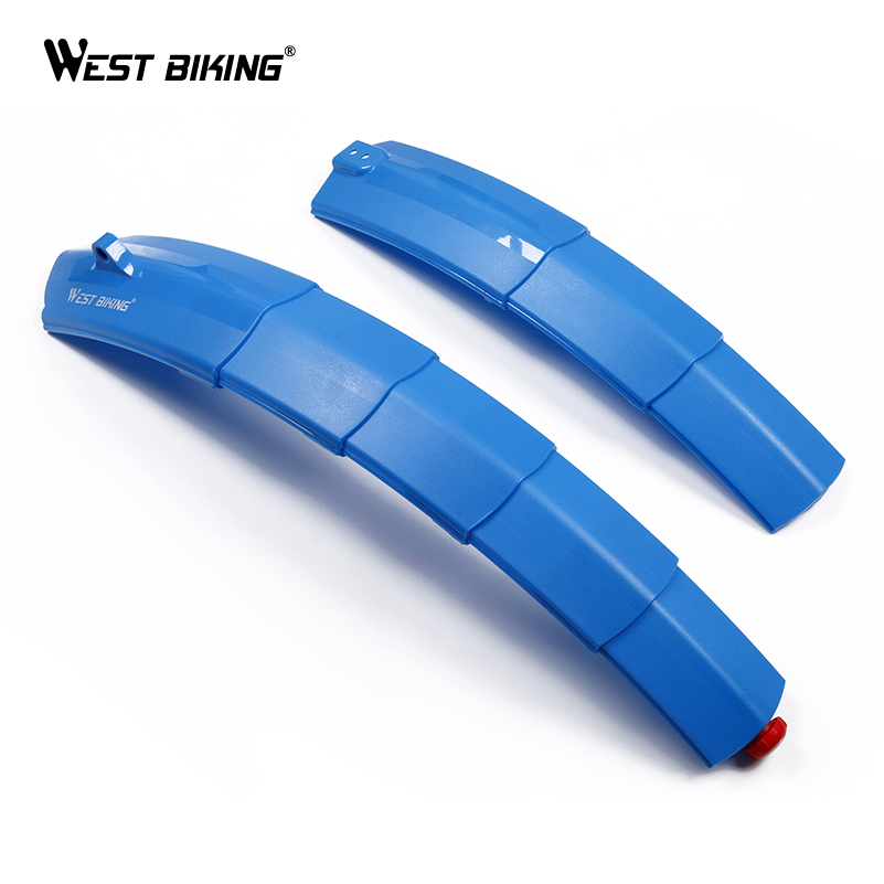 WEST BIKING Bike Fender With Light Quick Release For Bicycle Road Bike Mudguard Fender Portable Bicycle Cycle Telescopic Fenders