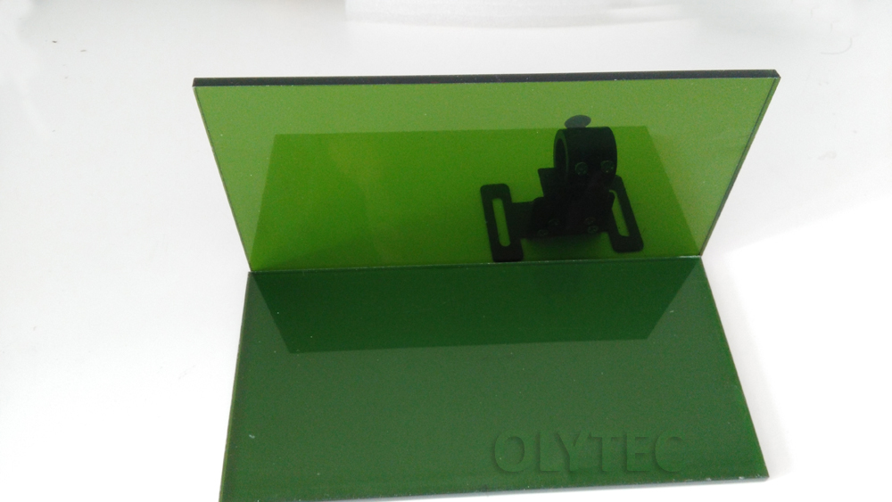 laser safety window for 190 450nm & 800 2000nm size 10cmx20cm thickness 5mm