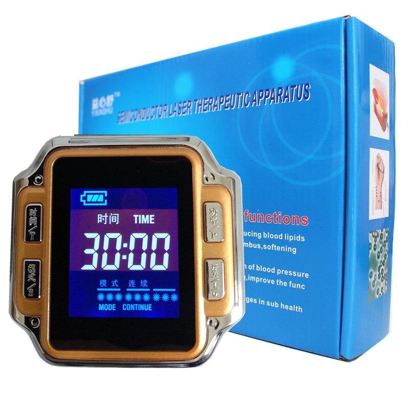 Nuovi prodotti 2016 prodotto innovativo CE dispositivo di pressione sanguigna orologio da polso 650nm laser A Basso livello-in Massaggi e relax da Bellezza e salute su  Gruppo 1