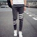 Largue Venda Impressão Listrado Casual Haren Calças Calças de Personalidade Para Homens Frescos dos homens Calças Moda Casual Calças Dos Homens de Roupas