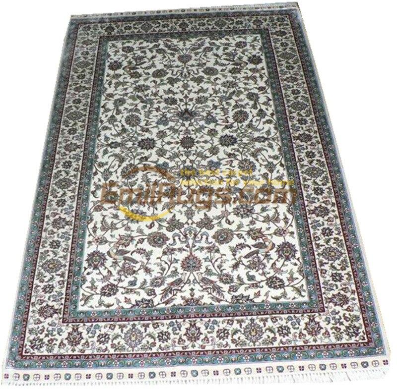 Tapis persan en soie tapis orientaux tapis tissés à la main pour salon Patterngc117psilkyg28