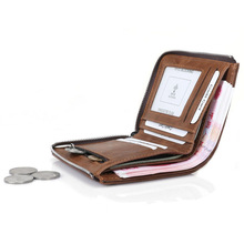 Wholesale New Wallet Men Soft PU Leather With Removable Card Slots Multifunction Purse Male Clutch Top Quality