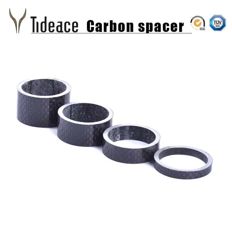 Premium Quality 5Pcs 1 1//8 3mm 5mm 10mm 15mm 20mm Carbon Fiber Washer Bike Bicycle Headset Stem Spacers