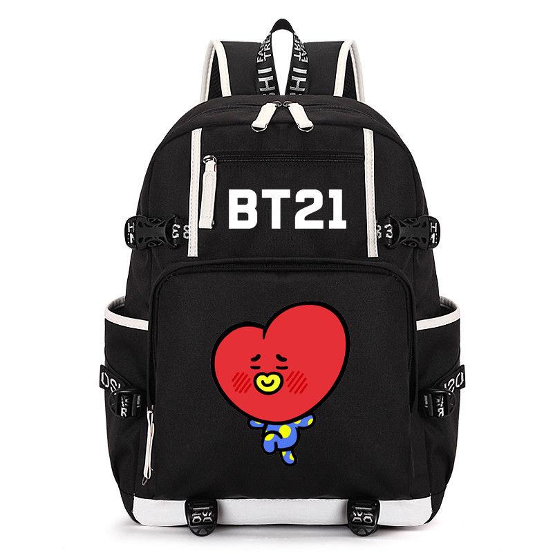 KPOP BTS Backpack Bangtan Boys Tata Bookbag Shoulder Bag V Travelling School Bag New Design Fans Collection Z7121503 south park backpack laptop bag school bag travelling shoulder bag colors pick 45x32x13cm