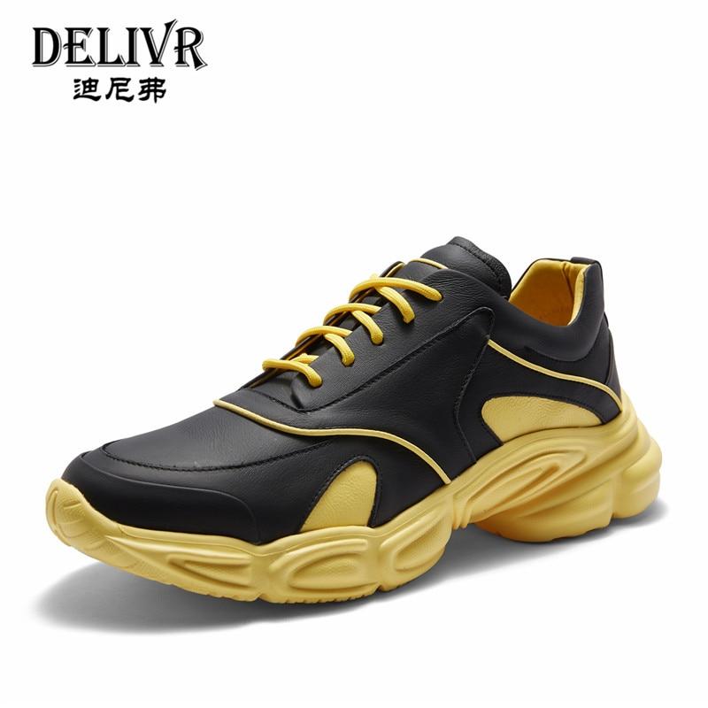Delivr Sneakers Men Shoes Casual 2019 Spring Black Platform Vulcanized Shoes Men Shoes Running Genuine Leather Sneakers MenDelivr Sneakers Men Shoes Casual 2019 Spring Black Platform Vulcanized Shoes Men Shoes Running Genuine Leather Sneakers Men