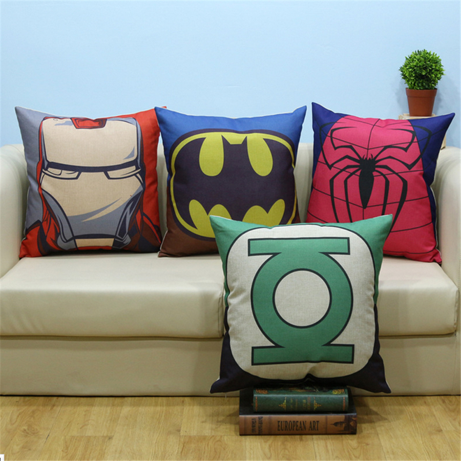 Cartoon Pillowcases Kids Decorative Pillows Linen Pop Art Office Chair Car Square Vintage Cheap Cushion Covers Home Decor b343