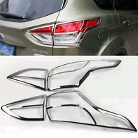 ABS Chrome rear tail light lamp cover trim 4PCS for Ford Kuga Escape 2013 2014 2015