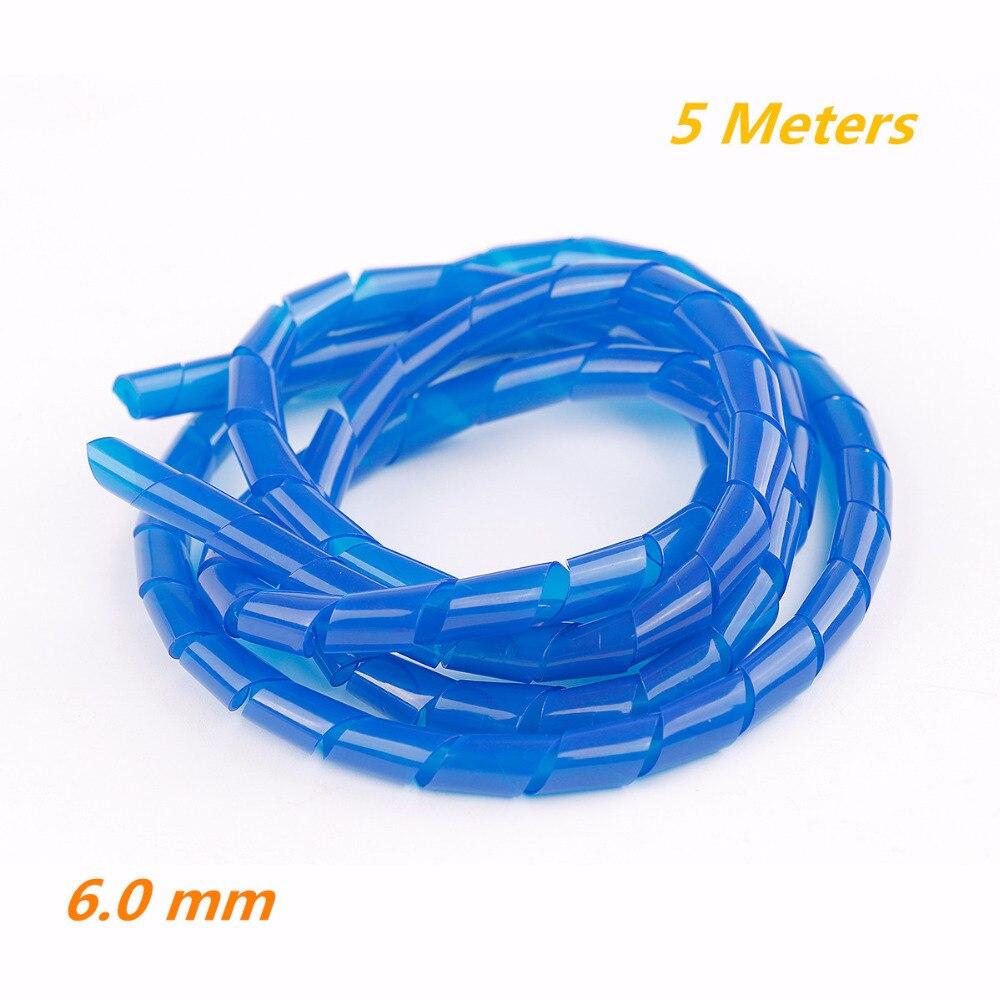 5 Meter 6,0mm Blau Spiralkabel Draht Ordentlich Wrap 4 50mm für PC ...