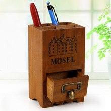 Wooden Storage Box Pen Holder