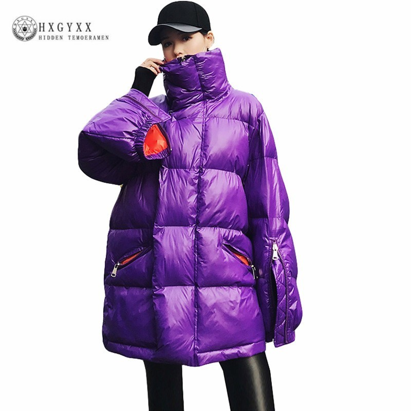 Women's Clothing Parkas Systematic Shiny Winter Coats Women Puffer Jacket 2019 Stand Collar Zipper Parka Female Plus Size Korean Warm Outwear Casual Clothes Okd482 Street Price