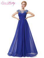 Evening Dresses HE08438 2015 Ever Pretty New Arrival Vestido Summer Dress Elegant Lacy Long Evening Dress