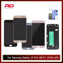 Adjustable LCD For Samsung Galaxy J7 Pro 2017 J730 J730F LCD Display with Touch Screen Digitizer Assembly Replacement with frame
