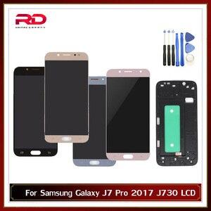 Image 1 - Có Thể Điều Chỉnh Màn Hình LCD Dành Cho Samsung Galaxy Samsung Galaxy J7 Pro 2017 J730 J730F Màn Hình Hiển Thị LCD Với Bộ Số Hóa Cảm Ứng Thay Thế Có Khung