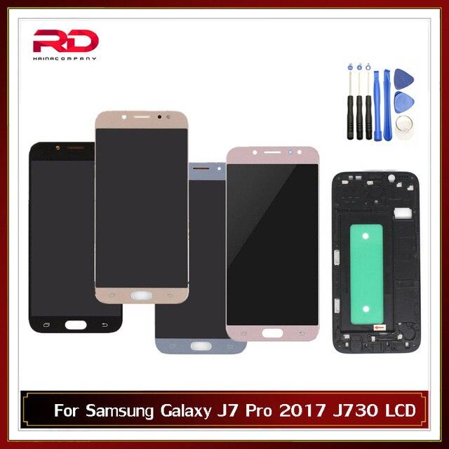 Có Thể Điều Chỉnh Màn Hình LCD Dành Cho Samsung Galaxy Samsung Galaxy J7 Pro 2017 J730 J730F Màn Hình Hiển Thị LCD Với Bộ Số Hóa Cảm Ứng Thay Thế Có Khung