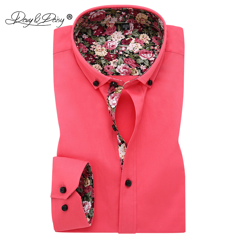 DAVYDAISY New Arrival 2018 Spring High Quality Cotton Mens Shirt Formal Shirt Long Sleeve Male Dress Casual Shirts DS183