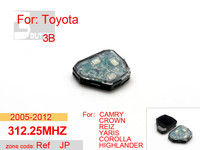 Auto 2005 2012 T o y o t a ref 3 button 312.25MHZ,car alarms for t o y o t a crown corolla yaris highlander,free shipping