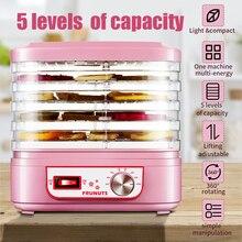 Машина для сушки пищевых продуктов, 220 В, для фруктов, овощей, трав, мяса, машина для сушки домашних закусок, сушилка для пищевых продуктов с 5 поддоны для кухни