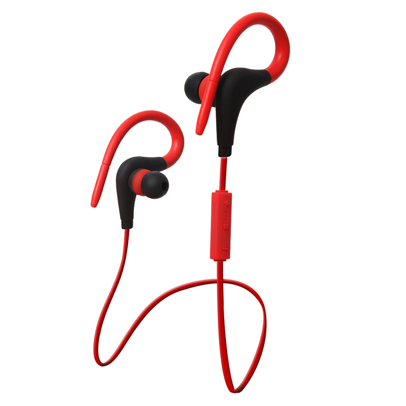 4.1 Wireless Bluetooth headphones Ear-Hook Stereo Super bass sport Headset with Microphone for computer iphone 7 6s 6 5s xiaomi wireless headphones v4 1 bluetooth earphone stealth sports headset ear hook earpiece with mic for iphone 7 7s samsung xiaomi