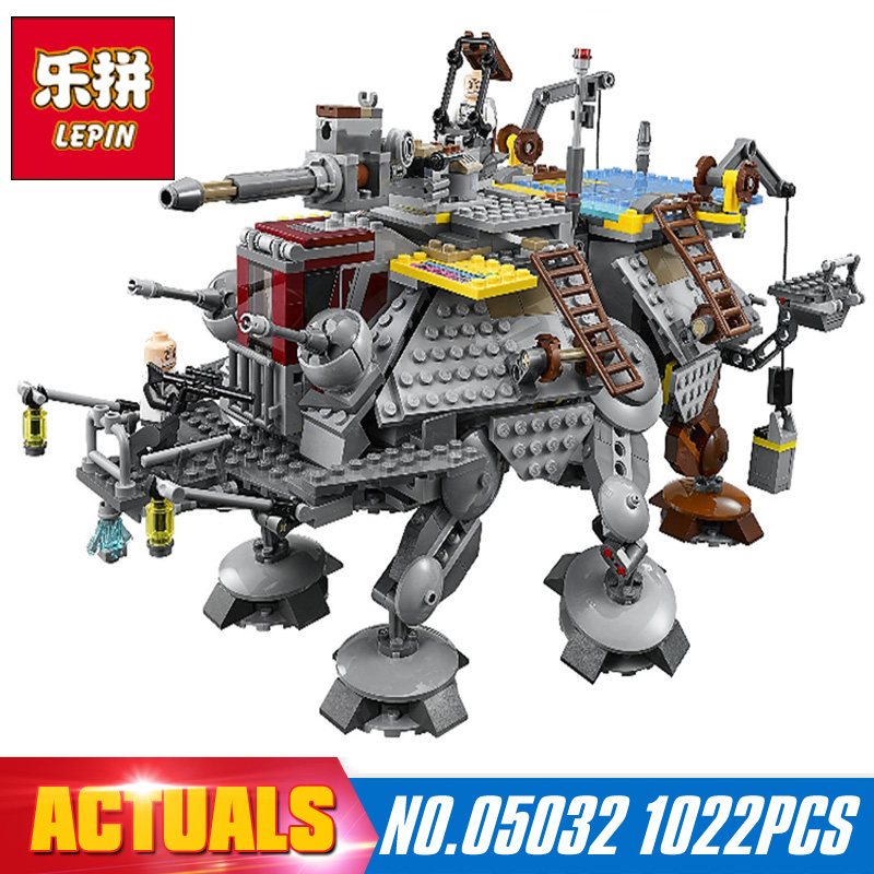 Lepin 05032 Star Wars series the Captain Rex's AT-TE model Building Blocks set Classic Compatible toys 75157 children Gifts