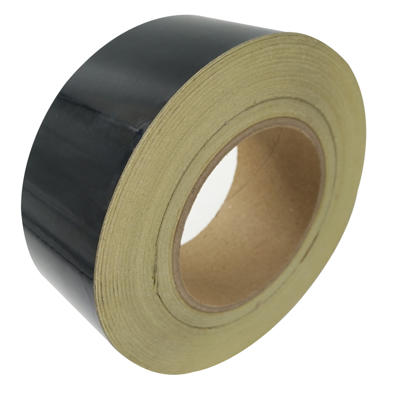 5CM*45M Reflective Tape Safety Warning Sign Body Stickers Black PET Materials Strips Adhesive Wear-resistant Waterproof