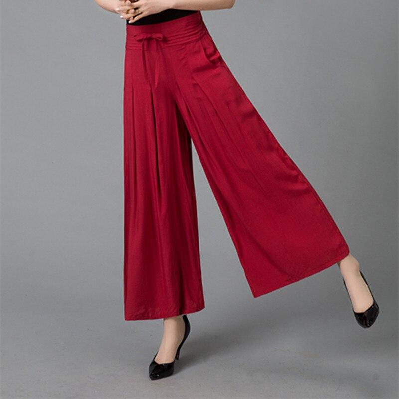 Women Casual Loose   Wide     Leg     Pants   Vintage Elastic Waist Trousers Casual Cotton linen Oversized Long   Pants   Plus Size M-4XL