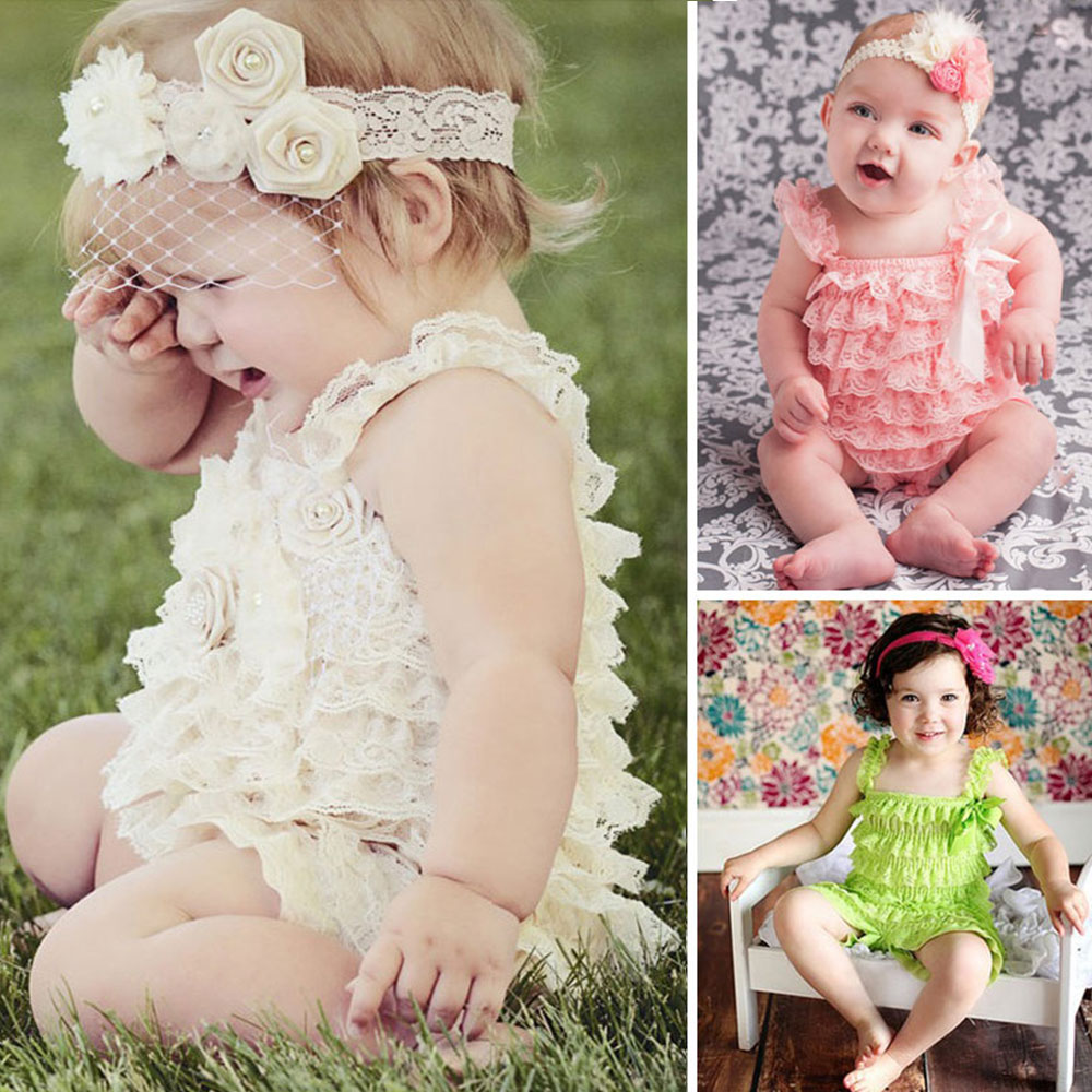 4f82b0f54892 Clearance Lace Ruffle Baby Clothes Straps Ribbon Bow Baby Rompers Colorful  Baby Costume Toddler Girls Fashion Romper-in Rompers from Mother   Kids on  ...