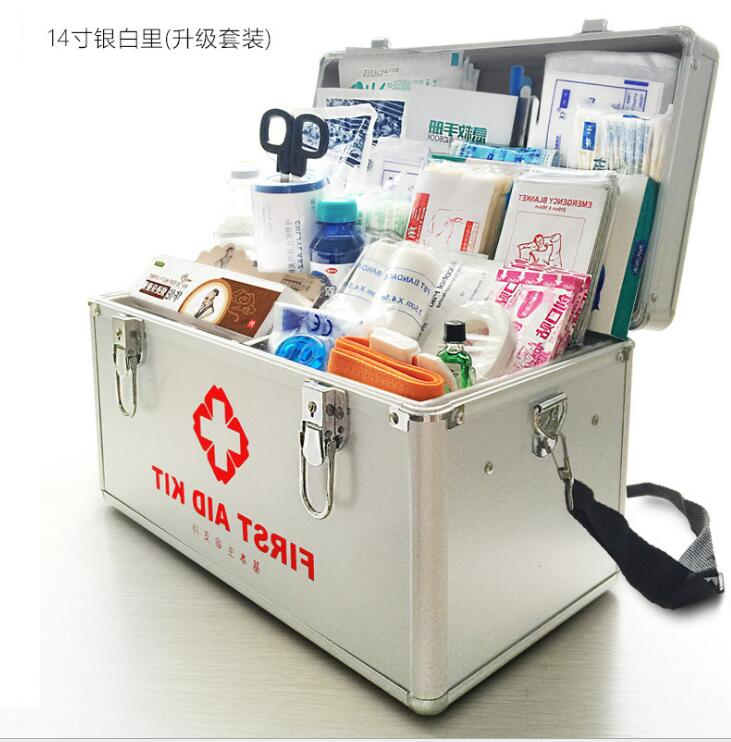 sblj41---16 inch outdoor first-aid kit, medicine home medicine box, home first aid kit, medical box. first aid kit multi family home healthcare kits wholesale pharmaceutical medicine box medical portable suitcase medical kit