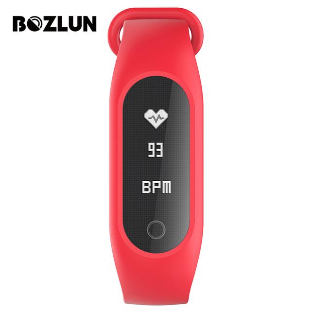 Bozlun b15s mujeres inteligente de pulsera brazalete de presión arterial de oxígeno en la sangre de malla superficie alarma de frecuencia cardíaca deportes relojes de pulsera digitales